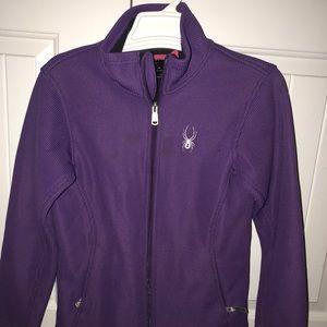 Youth Spyder purple full zip up jacket